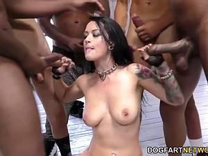 Katrina Jade needs water after the blowbang