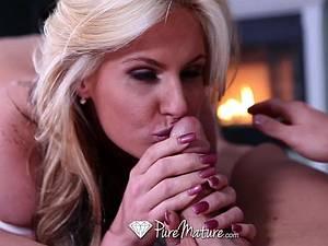 Pretty Phoenix Marie shown a romantic date and love making