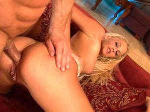 Super slim blonde getting her ass ruined