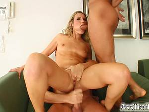 Three dicks for anal queen Cherry