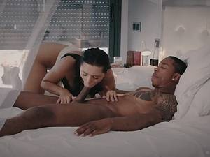 Hot natural Russian beauty Kira Queen rides black cock
