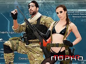 Metal Gear Solid 5 anal porn parody with horny brunette Casey Calvert