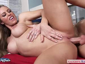 Adorable Nicole Aniston horny for her neighbors big dick