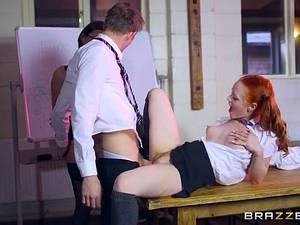 Lusty schoolgirl Ella Hughes and her busty teacher Sensual Jane need your big hard dick