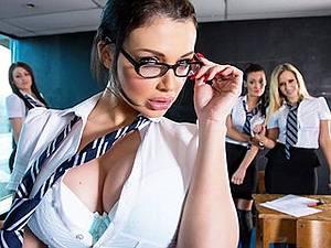Schoolgirls assassins 5 Busty girl Aletta Ocean punish the evil man