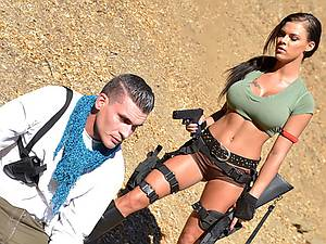 Cosplay Busty babe Peta Jensen gets fucked in the desert