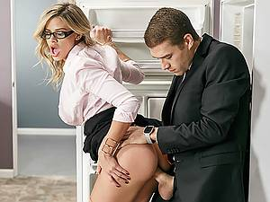 Office porn with horny new assitant Jessa Rhodes and her big boss Keiran Lee
