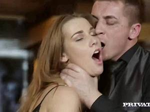Hot anal first timers have backdoor group sex in the Euro disco