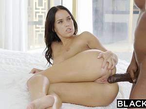 Magnificent Megan Rain has great fun with black cock