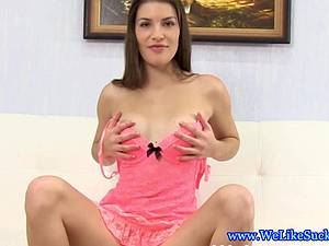 Babe with puffy nipples blowjob debut