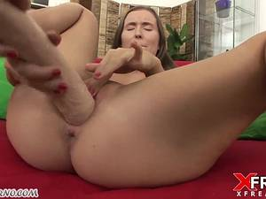 Deep fisting. European girl had never done it before