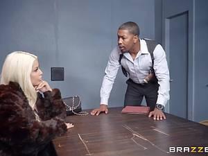 Hung black detective assfucking a blonde bombshell