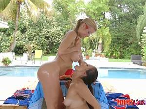 Alexis Fawx, Alexis Deen - Two lecherous lesbians have sinful sex by the pool