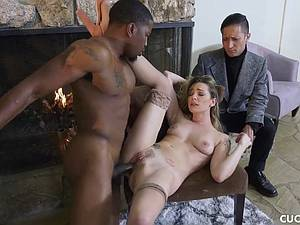 Black guy fucks his boss slutty wife Dahlia Sky