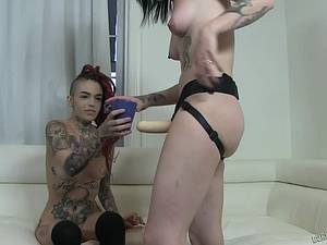 Slutty college whore with tattooed Leigh Raven & Nikki Hearts amateur porn