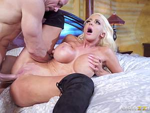 Nicolette Shea discovers some hard evidence of Johnny's sex life