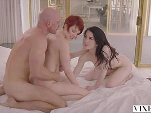 Evelyn Claire gets seduced by Johnny Sins and Bree Daniels