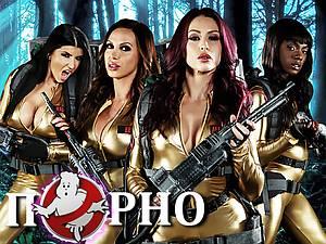 Romi Rain & Abigail Mac & Ana Foxxx - Women's team of ghost hunters. a XXX Parody
