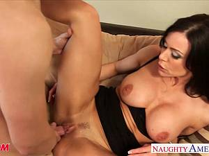Experienced lover Kendra Lust makes his dick feel fantastic