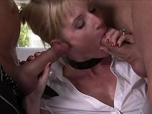 Kinky German MILF handles many dicks with all holes