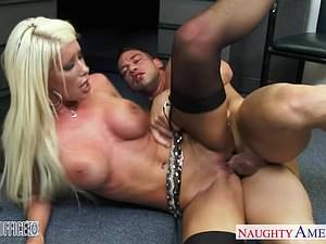 Ravishing Riley Jenner horny for a large dong at the office