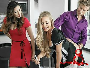 Smart and good maid Nicole Aniston knows what her boss needs