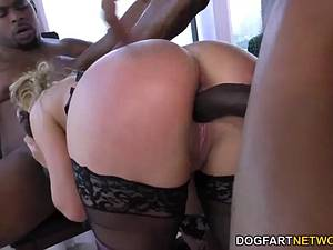 Sexy mom gangbanged by black bulls