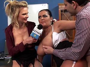 Tarra's blouse's bursting at the seams