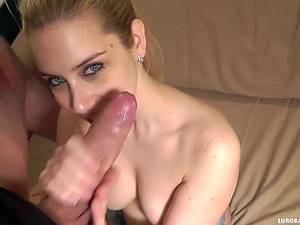 Hot blonde pleases his dick well in POV