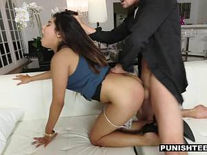 Young Latina secretary punished by her rich boss