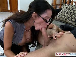 Ariella Ferrera has sexy glasses and loves cock