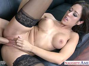 Hot wife in stockings Capri Cavanni plowed rough