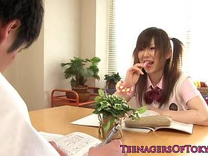 Marvelous Miku Airi playing with herself and fucking